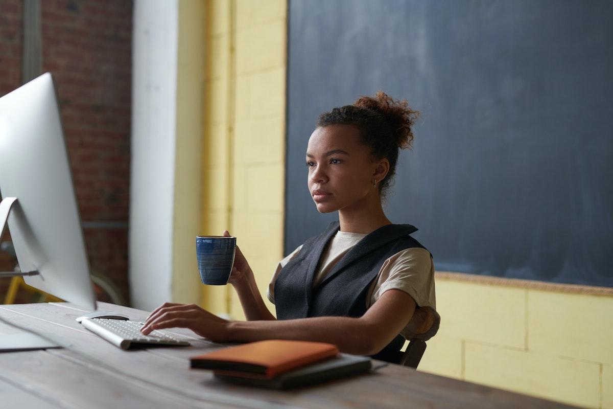 Woman at computer
